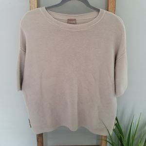 Chico's Ribbed Top Short Sleeve Sz Chico's 2/12